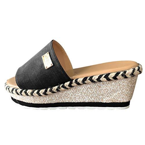 Celucke Pantofole con Plateau Donna estive, Spiaggia zeppa Sandali da Donna Casual, Ciabatte Antiscivolo Morbido Estate, Sandali Flip Flop da Mare Piscina