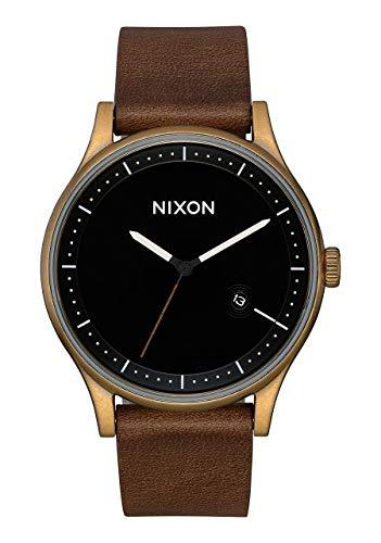 Nixon Unisex Erwachsene Analog Quarz Uhr mit Leder Armband A1161-3053-00