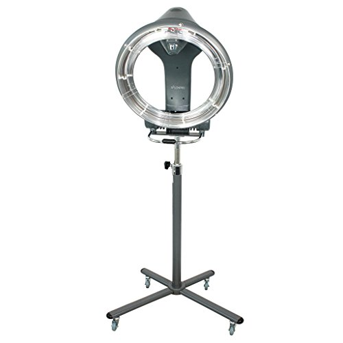 SalonPro Orbiting Halo Infrared Hair Color Processor Dryer Accelerator w/Rolling Base (Grey)