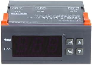KKmoon - Controlador de temperatura digital con función de alarma, 10A, 220V, Thermocouple -40℃ to 120℃