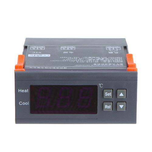 KKmoon Controlador de temperatura por termopar 10A 220V Digital -40 ℃ a 120 ℃ con