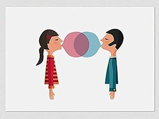 Gomma da masticare in coppia. (Stampe A4 / A3)