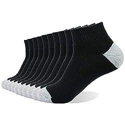 Enerwear 10P Pack Men's Cotton Cushion Low Cut Socks