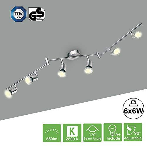 Lámparas de Techo LED con 6 x 6W Bombillas Kimjo, Moderno