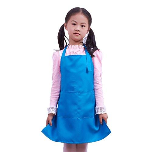LissomPlume Kind Malschürze Kunstkittel Kinderschürze Kochschürze Arbeitsschürze Painting Supplies - blau