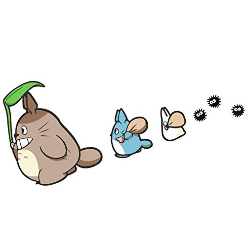 WANGZZZ Mein Nachbar Totoro Aufkleber Auto persönlichkeit Auto Aufkleber niedlichen Cartoon Anime körper Aufkleber Kratzer Aufkleber Schwanz Dekoration Aufkleber Auto zubehör