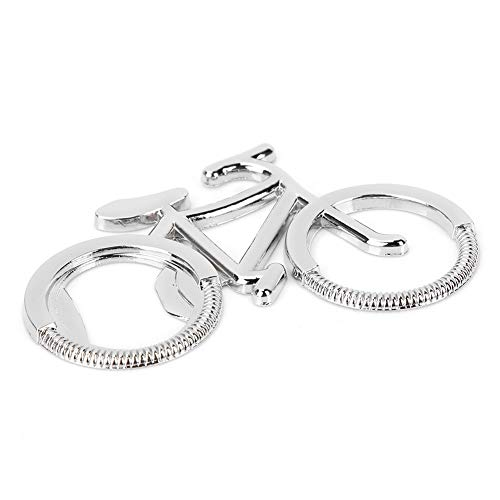 Changor Delicada abrelatas de Bicicleta, Calidad de Zinc de Calidad Hecha de Metal (Plata)