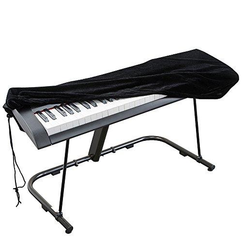 Copertina del pianoforte, Estensibile Velluto Copertura Antipolvere Kaifire Copertura antipolvere di nylon tastiera di pianoforte con cordino regolabile e una serratura (88 keys)