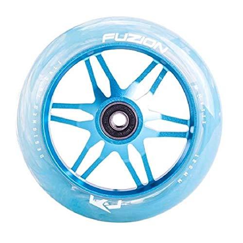 Fuzion Ace - Rueda para patinete (120 mm, incluye pegatina Fantic26), color azul claro y turquesa