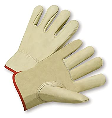 West Chester 995K Standard Grain Cowhide Leather Driver Work Gloves: Keystone Thumb, 12 Pairs