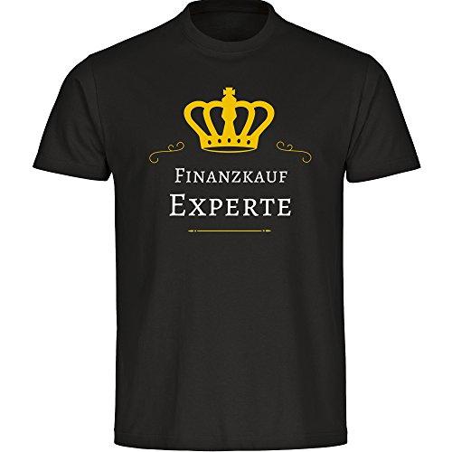 Herren T-Shirt Finanzkauf Experte - schwarz - Größe S bis 5XL, Größe:XXXXXL