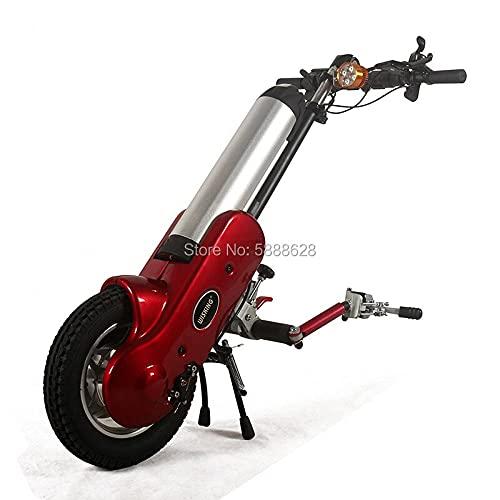 JINKEBIN Electric Silla de Ruedas Tecnología Avanzada 12Inch 36V 400W Handcycle Handcycle Handbike eléctrico con la batería 12Ah Lista para Enviar (Color : Red)
