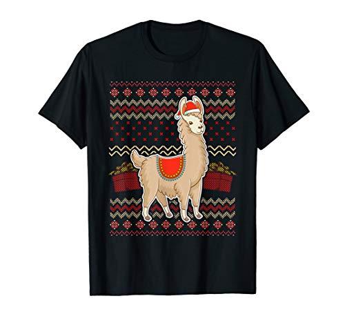 Lama Hässliche Weihnachten-Hemd, Weihnachtsmütze, süßes Weih