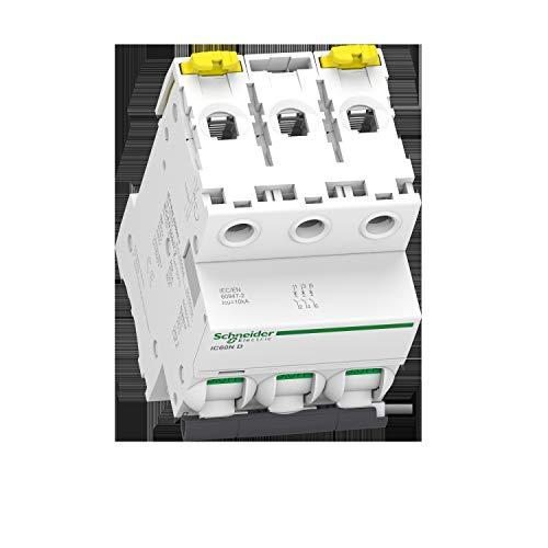 Schneider Electric A9F75316 Interruptor Automático Magnetotérmico Ic60N, 3P, 16A, Curva D
