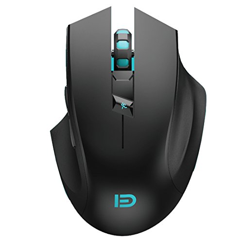 Noiseless Wireless Mouse,Forter i720 Erognomic Right-handed Design Wireless Silent Gaming Mouse For Windows and MAC - Black