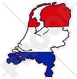 NIEDERLANDE Niederländische Karte-Flagge Holland 95mm Auto & Motorrad Aufkleber, Vinyl Stickers