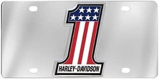 Harley-Davidson Number 1 American Flag Decorative Vanity License Plate