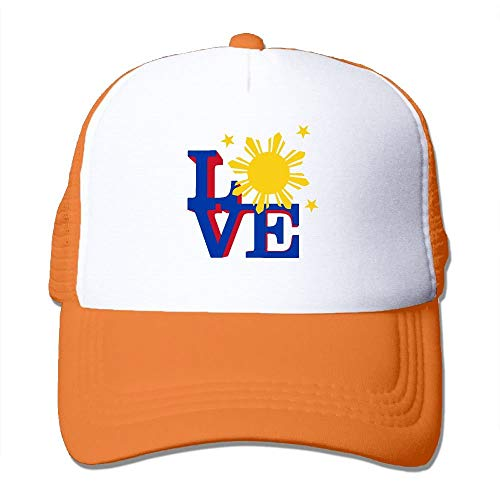 Voxpkrs WGmz82&H Two Tone Trucker Hat - Philippines Sun Love - Adjustable Mesh Hat