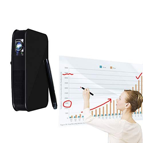 ZXCVASDF High-Definition Smart Touch WiFi proyector 4K 3D Ayuda 1080P, 3000 lúmenes, 300