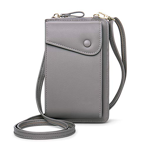 ARTOCT Bolso bandolera de piel para teléfono móvil, pequeño bolso cruzado para el hombro, para mujer, con tarjetero, correa ajustable y desmontable.