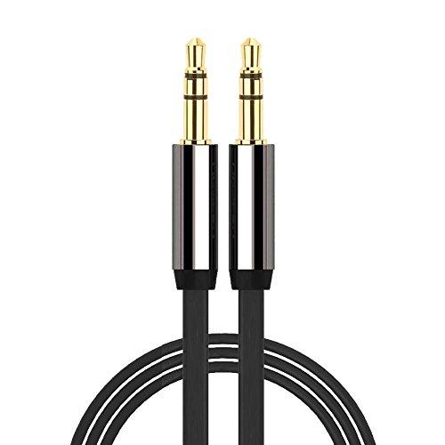 iPro Accessories AUX-Kabel, 3,5 mm auf 3,5 mm, Galaxy S8/S8 Plus/S9/S9 Plus AUX-Kabel, goldfarben, Audiokabel, MP3-Anschluss, 1 m Kabellänge