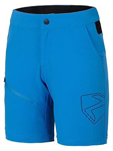 Ziener Kinder Fahrrad-Shorts/Rad-Hose Mit Innenhose/Mountainbike - Atmungsaktiv|Schnelltrocknend|Gepolstert Natsu X-Function, Light Blue, 152, 209511
