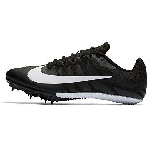 Nike Women's Zoom Rival S 9 Track Spike Black/White/Volt Size 8.5 M US
