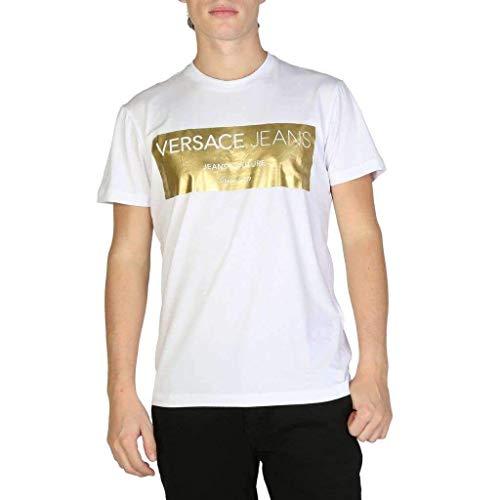 Versace Jeans Man T-Shirt Camiseta de Tirantes, Blanco (Bianco Ottico E003), XX-Large para Hombre