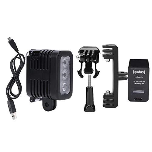 Lámpara de Video LED, batería Recargable para Buceo, luz de Relleno, Vlogs de Youtube Profesionales subacuáticos para Maquillaje, Video, transmisión en Vivo, fotografía fotográfica