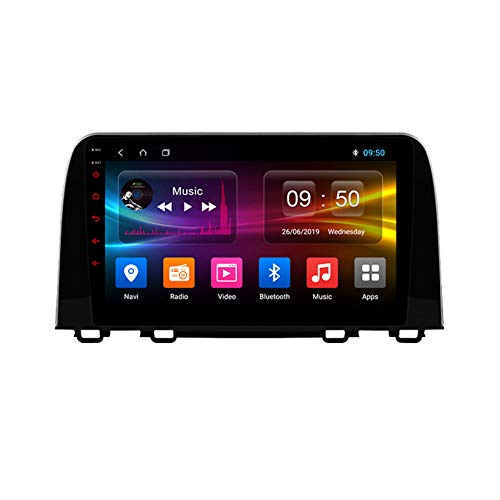 TypeBuilt Android Autoradio 9' Pantalla Tactil para Coche HD Radio De Coche Bluetooth SWC per Honda CRV CR-V 5 RT RW 2016-2018 Coche Audio FM/Am/RDS Radio Video Player Bluetooth Radio Pantalla,Px6