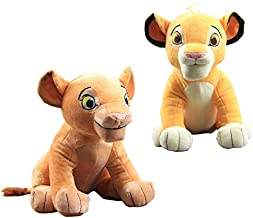 2 Pcs/set Lion King Plush Toy Simba NEW Nala Soft Stuffed Animals Sitting Model Doll Baby Educational Toys 11