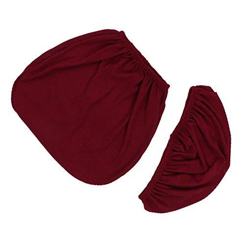 WINOMO Funda de Silla de Oficina Elástica Lavable para Silla de Ordenador Funda para Silla Giratoria Universal de Color Rojo Oscuro