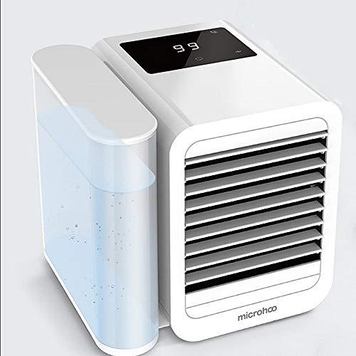 NCBH Ventilador de ar condicionado de verão, ventilador de ar condicionado USB portátil silencioso mini ventilador de mesa refrigerador/umidificador mudo para uso interno e externo