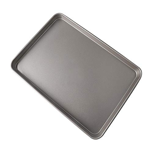 Baking tray, carbon metal rectangular non-stick cake roll baking tray family baking instruments oven grinding instruments cookie sheet (Size : 39.5X27X2.5CM)