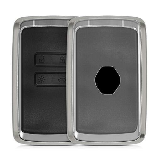 Solo Keyless Go Dont Touch My Key Nero//Rosso Splendente - Custodia Protettiva in Soft TPU kwmobile Cover Copri-Chiave Compatibile con Renault con 4 Tasti Smart Key