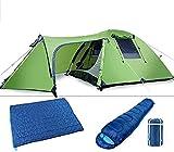 Ankon Al aire libre impermeable Pop Tent Tent Tent Tents Para Camping Tienda Camping 4 Persona Tienda Familiar Impermeable Tienda Plegable Tienda Doble Estaciones Cálidas Shelter Camping Senderismo To