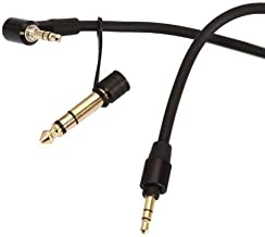 Maygadget Replacement Aux Auxiliary Pro and Detox Edition Cable Wire Cord for Monster Solo Beats Studio Headphones by Dr Dre Solo Studio Solohd Headphones Cable 3.5mm & 6.5mm (Black)