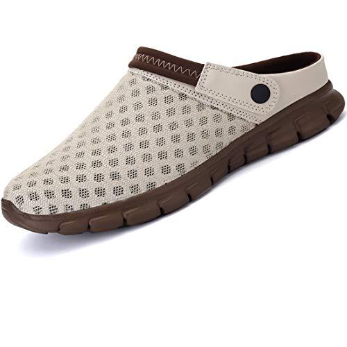 LIANNAO Hombres Zuecos Zapatillas de Playa Respirable Acoplamiento Antideslizante Sandalias Zapatos Verano Malla Ligeros Chancletas Jardin Clogs Zapatos Sandalias Chanclas Unisex Slippers EU44