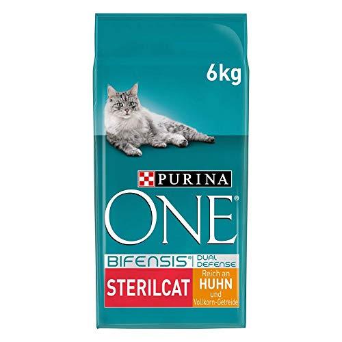 PURINA ONE BIFENSIS STERILCAT Katzenfutter trocken für sterilisierte Katzen, reich an Huhn, 1er Pack (1 x 6kg)