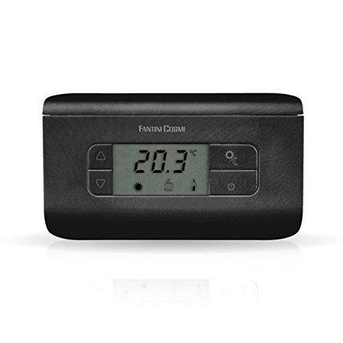 Fantini Cosmi CH117 Termostato Ambiente a batterie, 3 Temperature, Antracite