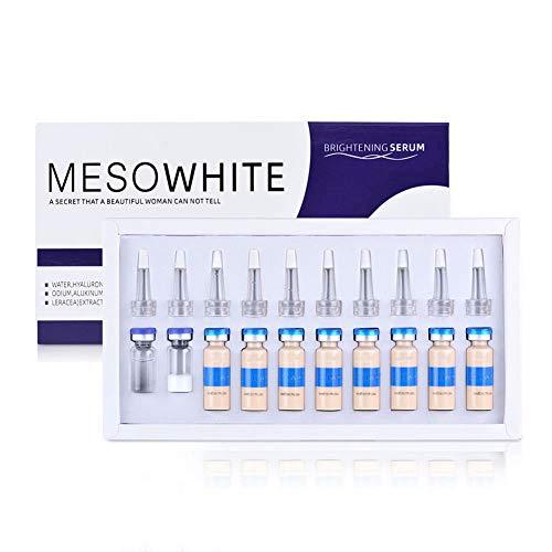 Kit de démarrage pour spa et école de traitement de la peau, kit de démarrage de base de sérum pour ampoule 10 pièces, poudre lyophilisée, sérum éclaircissant BB Cream