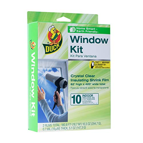Duck Brand Indoor 10-Window Shrink Film Insulator Kit, 62-Inch x 420-Inch, 286216