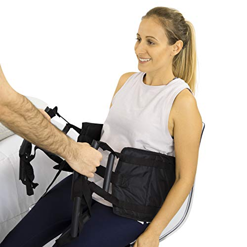 Vive Transfer Sling - Padded Assist Gait Belt - Heavy Duty Patient Lift with Straps - Mobility Standing and Lifting Aid for Disabled, Elderly, Seniors, Injured - Safely Move from Bed and Wheelchair