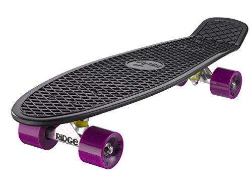 Ridge Big Brother Cruiser - Skateboard, Color Negro/Morado, 69 cm