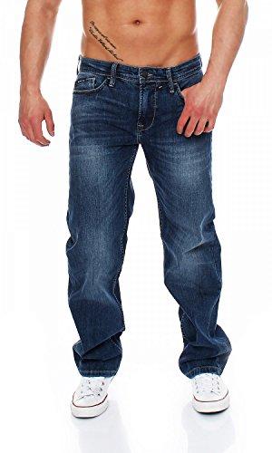 Big Seven Morris Sapphire Blue Comfort Fit Herren Jeans, Hosengröße:W34/L36