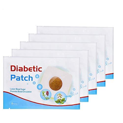JIUZHI 30 pz 5 Sacchetti Diabete Cerotto per Controllo Intonaco di Zucchero in Sangue Erbe Naturali Ridurre Glicemia Alta Adesi