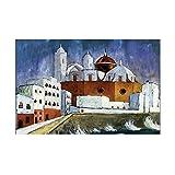 Walter Gramatte Old Famous Master Artist Cadiz cuadro de pintura lienzo impreso para decoración de pared de habitación obra de arte 70x100 cm x1 sin marco
