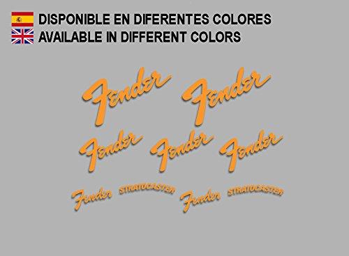 Ecoshirt IQ-PUIN-0HYY Aufkleber Stratocaster Gitarre F211 Stickers Aufkleber Decals Adesivi Music Guitar, Orange