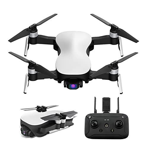 JJDSN Mini Drone con 4K 3 Assi Gimbal Camera GPS 5G WiFi FPV Live Video RC Brushless Motor Quadcopter, Auto Return Home, Selfie, Follow Me, Waypoint, Circle Fly, con Zaino