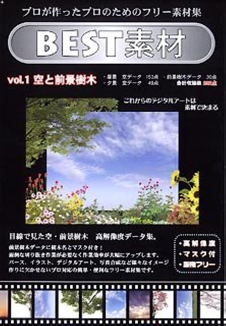 すり奨励チームBEST素材 Vol.1 空と前景樹木